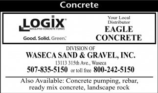 Concrete, Waseca Sand & Gravel, Inc, Waseca, MN