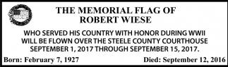 Memorial Flag of Robert Wiese