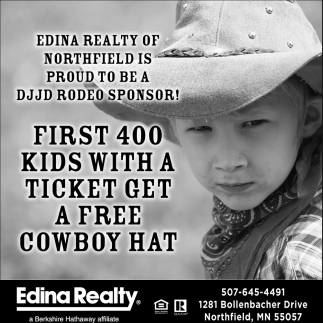 DJJD Rodeo Sponsor!, Edina Realty Inc, Northfield, MN