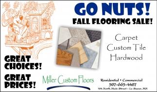 Go Nuts! Fall Flooring Sale