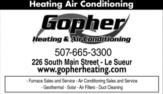 Furnace Sales and Service, Gopher Heating and Air Conditioning, Savage, MN