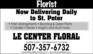 Now Delivering Daily to St. Peter
