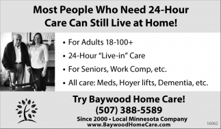 24 Hour Care, Baywood Home Care, St.louis Park, MN