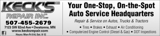 Repair & Service on Autos, Trucks & Tractors