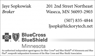 Jaye Sopkowiak, Blue Cross Blue Shield, Waseca, MN