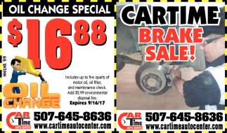 Brake Sale!, Car Time Auto Center, Dundas, MN