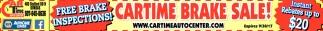 Cartime Brake Sale!