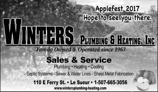 Applefest 2017, Winters Plumbing and Heating Inc, Le Sueur, MN