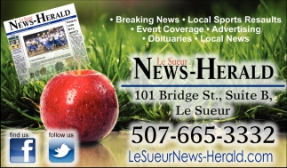 News, Sports, Events, Advertising, Obituaries, Le Sueur News Herald, Faribault, MN