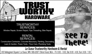 Trustworthy services & rental services