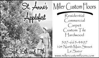St. Anne's Applefest, Miller Custom Floors, Le Sueur, MN