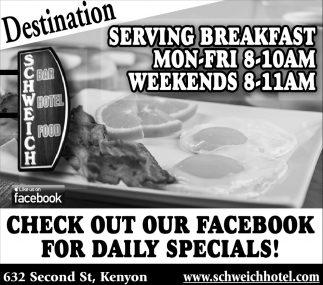 Check out our Facebook for daily specials!
