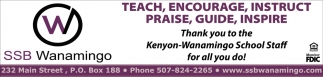 Thank you to the Kenyon-Wanamingo School Staff for all you do!, Security State Bank of Wanamingo, Wanamingo, MN
