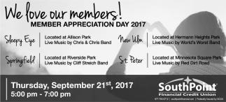 Member Appreciation Day 2017