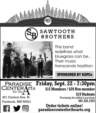 Sawtooth Brothers, Paradise Center for the Arts, Faribault, MN