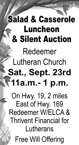 Salad and Casserole Luncheon and Silent Auction