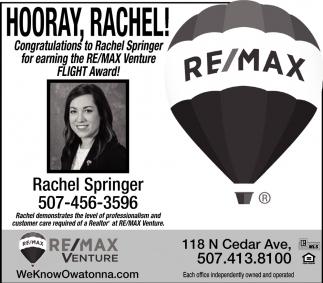 Hooray, Rachel!