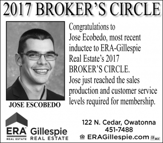 Jose Escobedo, ERA Gillespie Real Estate, Owatonna, MN