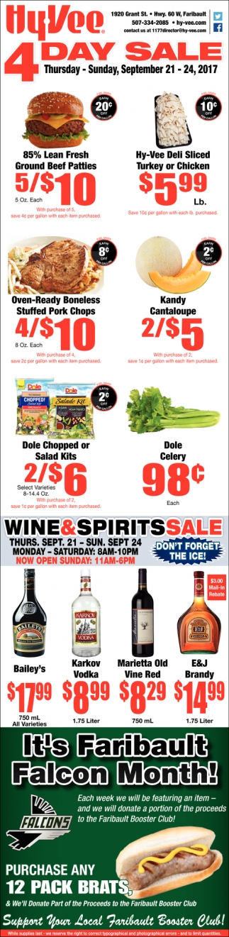 4 Day Sale, Hy-vee Employee Owned, Faribault, MN