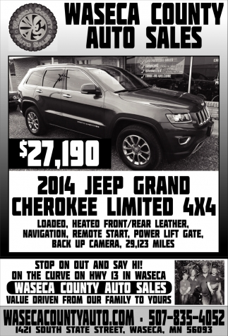 2014 Jeep Grand Cherokee Limited 4x4, Waseca County Auto Sales, Waseca, MN