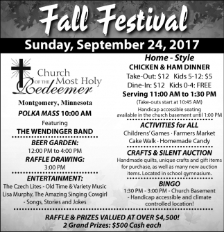 Fall Festival, Church of The Most Holy Redeemer, Montgomery, MN