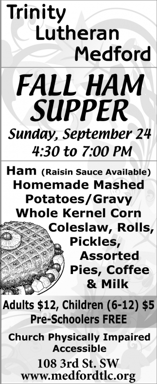 Fall Ham Supper