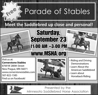 Parade of Stables, Minnesota Saddlebred Horse Association