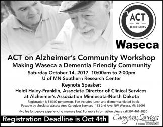 ACT on ALzheirmer's Community Workshop