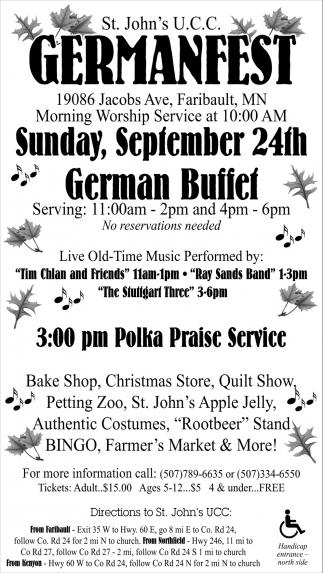 German Fest, St. John\'s United Church of Christ - Faribault ...