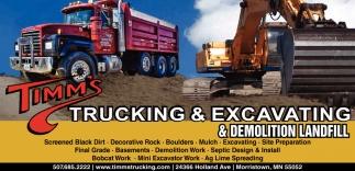 Trucking, excavating & demolition