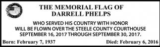 Memorial Flag of Darrell Phelps