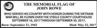 Memorial Flag of John Rowe