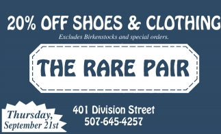 20% off shoes & clothing