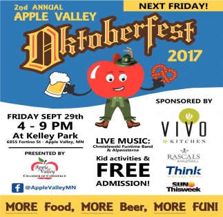 2nd Annual Apple Valley Oktoberfest 2017, Apple Valley Chamber of Commerce, Faribault, MN