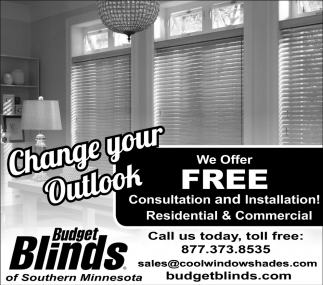 Free Consultation and Installation, Budget Blinds, Albert Lea, MN