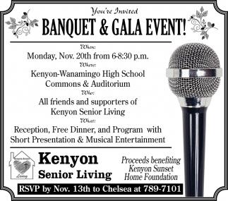 Banquet & Gala Event!