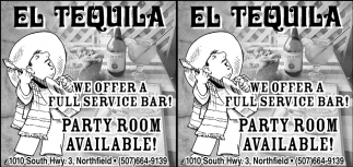 Full Service Bar, Party Room Available!