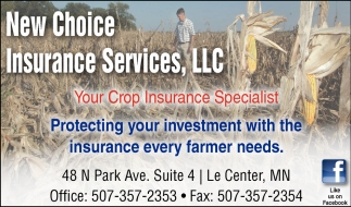 Your Crop Insurance Specialist, New Choice Insurance Services, LLC