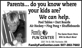 Pool Tables, Fart Boards, Air Hockey, Ping Pong