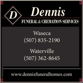 Funeral & Cremation Services, Dennis Funeral and Cremation Services, Waseca, MN