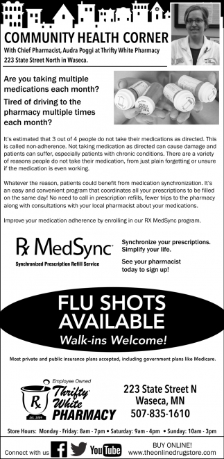 Flu Shots Now Available