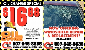 Oil Change Special $16.88