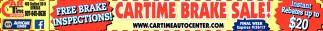 Cartime Brake Sale