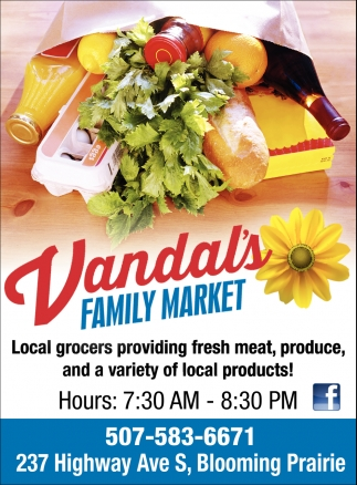 Fresh meat, produce, and a variety of local products!, Vandal's Family Market, Blooming Prairie, MN