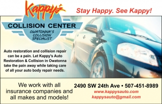 Auto Restoration & Collision in Owatonna, Kappy's Collision Center