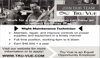 Night Maintenance Technician