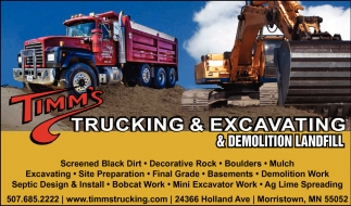 Trucking, excavating & demolition