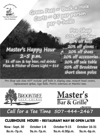 Brooktree Golf Course & Master's Bar & Grille