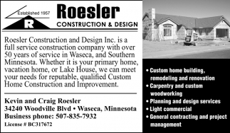 Kevin and Craig Roesler, Roesler Construction and Design, Waseca, MN