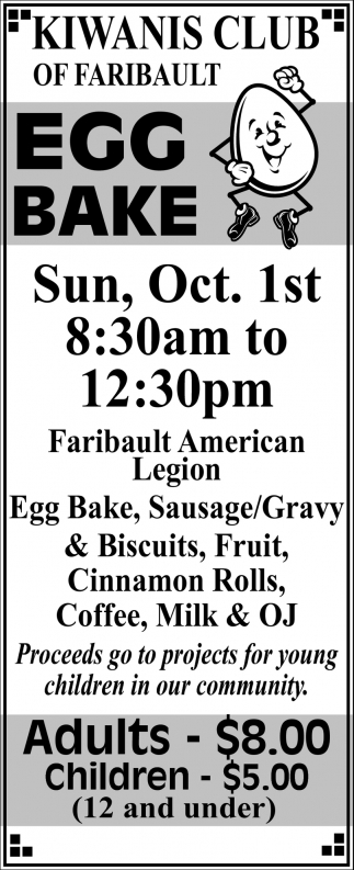 Egg Bake, Kiwanis Club of Faribault, Faribault, MN